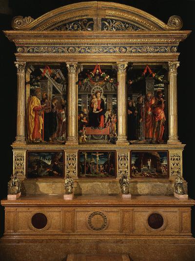 Altarpiece of Saint Zeno, with Saints Peter, Paul, John the Evangelist, Zeno-Andrea Mantegna-Photographic Print