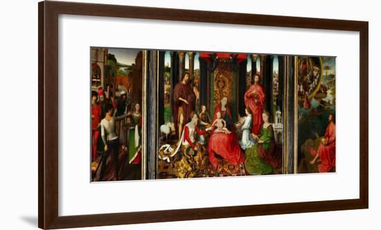 Altarpiece of St. John the Baptist and St. John the Evangelist, 1474-79-Hans Memling-Framed Giclee Print