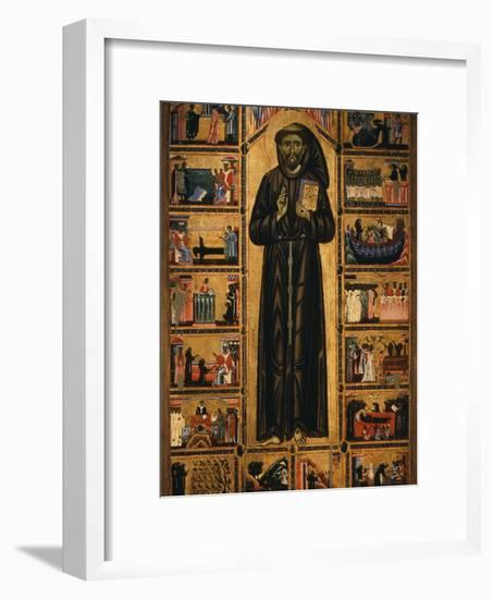 Altarpiece with Life of Saint Francis of Assisi-Tuscan School-Framed Photographic Print