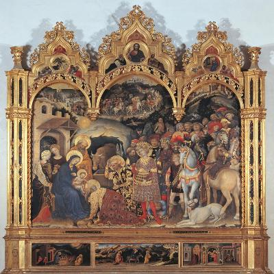 Altarpiece with the Adoration of the Magi-Gentile di Niccol (Fabriano)-Giclee Print