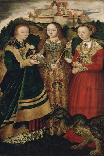 Altarpiece with the Martyrdom of Saint Catharine, Right Wing-Lucas Cranach the Elder-Giclee Print