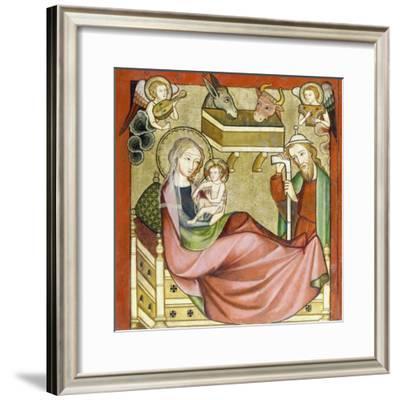 Altenberger Altar (Detail aus dem linker Flügel): Geburt Christi-Rhenish Master-Framed Giclee Print