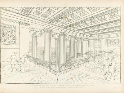 Altes Museum Berlin: View of the Staircase, 1852-Karl Friedrich Schinkel-Giclee Print