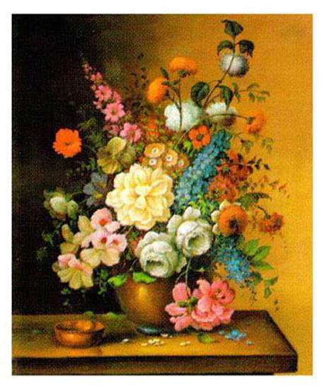Altmeisterliche Blumen-Corrado Pila-Art Print