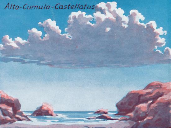'Alto-Cumulo-Castellatus - A Dozen of the Principal Cloud Forms In The Sky', 1935-Unknown-Giclee Print