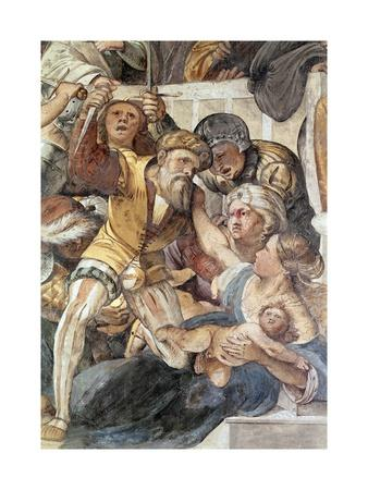 Massacre of Innocents, Detail from Life of Jesus, Fresco Painted in 1516-1517