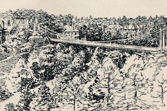 'Alum Chine Suspension Bridge', 1929-Unknown-Giclee Print