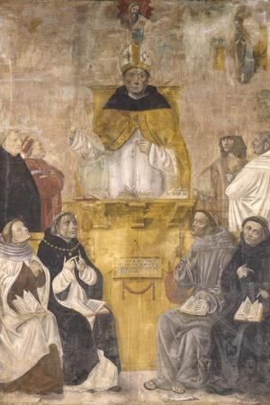 St. Albert the Great Preaching with Sts. Thomas Aquinas and Bonaventure