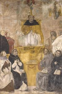 St. Albert the Great Preaching with Sts. Thomas Aquinas and Bonaventure by Alvise De Donati