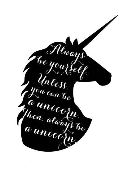 Always Be a Unicorn-Peach & Gold-Art Print