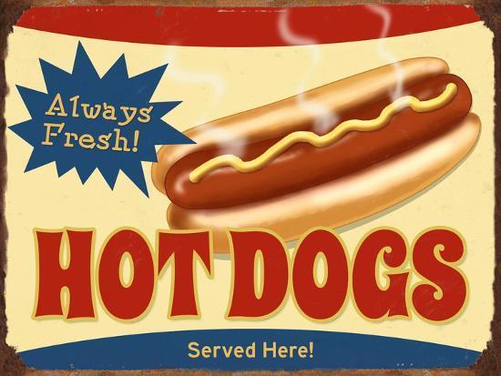 Always Fresh Hot Dogs-Retroplanet-Giclee Print
