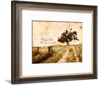 Always take the Scenic Route-Ynon Mabat-Framed Art Print