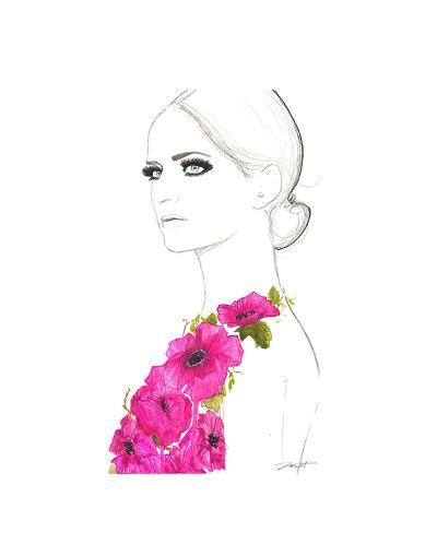 Always the Flower Child-Jessica Durrant-Art Print