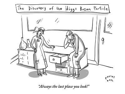 """Always the last place you look!"" - New Yorker Cartoon-Farley Katz-Premium Giclee Print"