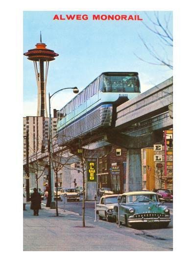 Alweg Monorail, Seattle, Washington--Art Print
