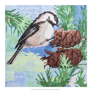 Chickadee Collage IV by Alyson Champ