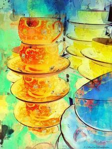 Orange and Gold Stack, 2014 by AlyZen Moonshadow