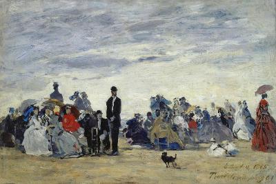 Am Strand Von Trouville, 1865-Eug?ne Boudin-Giclee Print