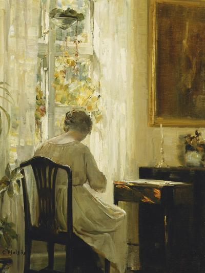 Am Wohnzimmerfenster-Carl Holsoe-Giclee Print