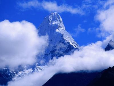 Ama Dablam from Near Tengboche on Everest Basecamp Trek, Everest Base Camp, Sagarmatha, Nepal-Grant Dixon-Photographic Print
