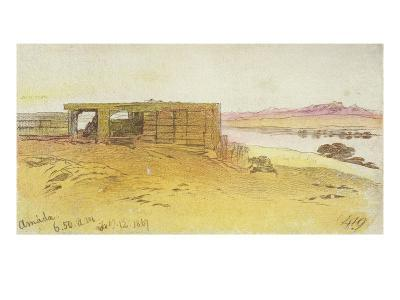 Amada, 6:50Am, 12 February 1867,(Pen and Brown Ink with Wc over Graphite)-Edward Lear-Giclee Print