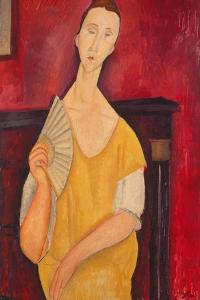 Woman with a Fan, 1919 by Amadeo Modigliani