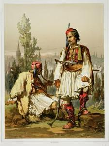 Albanians, Mercenaries in the Ottoman Army, Published by Lemercier, 1857 by Amadeo Preziosi