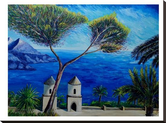 Amalfi Coast Ii-M Bleichner-Stretched Canvas Print