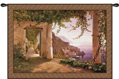 Amalfi Dai Cappuccini-Carl Frederic Aagaard-Wall Tapestry
