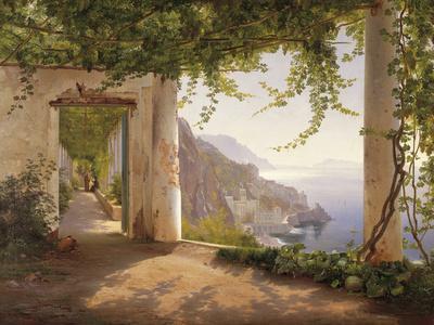 Amalfi Dia Cappuccini-Carl Frederic Aagaard-Giclee Print