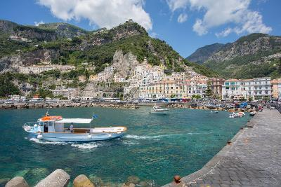 Amalfi from Harbour, Amalfi, Costiera Amalfitana (Amalfi Coast)-Frank Fell-Photographic Print