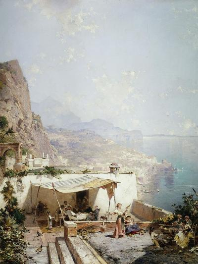 Amalfi - Gulf of Salerno; Amalfi - Golfe De Salerne-Franz Richard Unterberger-Giclee Print