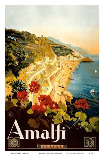 Amalfi Italia - Campania, Italy-Mario Borgoni-Art Print