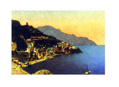 Amalfi Panorama--Art Print