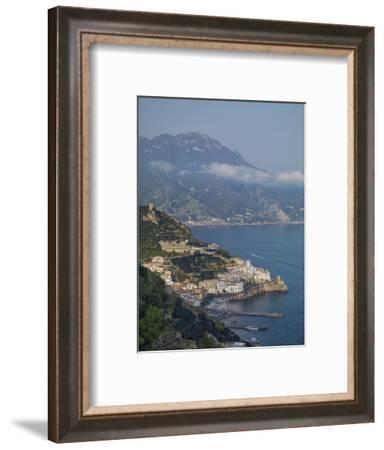 Amalfi Peninsula, Amalfi Coast, UNESCO World Heritage Site, Campania, Italy, Mediterranean, Europe-Angelo Cavalli-Framed Photographic Print