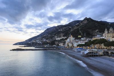 Amalfi Waterfront at Dusk, Costiera Amalfitana (Amalfi Coast), Campania, Italy-Eleanor Scriven-Photographic Print
