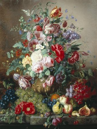Rich Still Life of Lilac and Roses