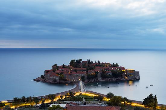 Aman Sveti Stefan Island, Montenegro, Europe-Christian Kober-Photographic Print