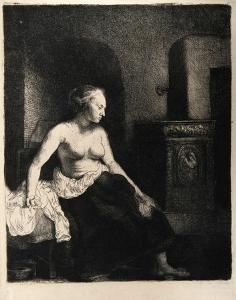 La Femme Devant le Poele (B197) by Amand Durand