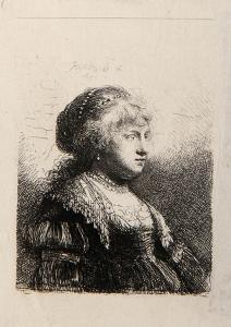 La Jeune Femme de Rembrandt Coiffer en Cheveux (B347) by Amand Durand