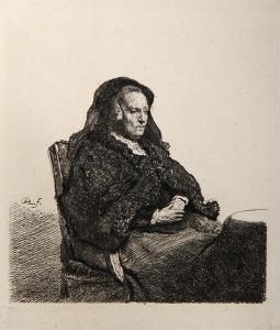 La Mere de Rembrandt au VoileNoir (B343) by Amand Durand