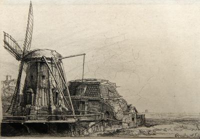 Le Moulin de Rembrandt Bartsch (B233)