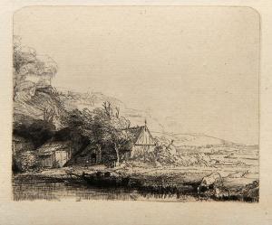 Le Paysage a la Vache qui sa Breuve (B237) by Amand Durand