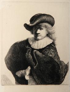 Rembrandt au Chapeau Rond (B7) by Amand Durand