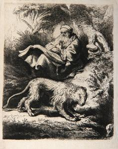 Saint Jerome Lisant (B100) by Amand Durand