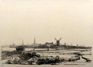 Vue d'Amsterdam (B210) by Amand Durand