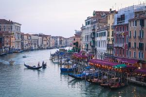A Gondola Crossing the Grand Canal, Venice, UNESCO World Heritage Site, Veneto, Italy, Europe by Amanda Hall