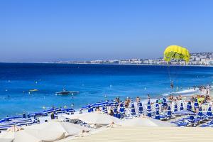 Beach Scene, Nice, Alpes Maritimes by Amanda Hall