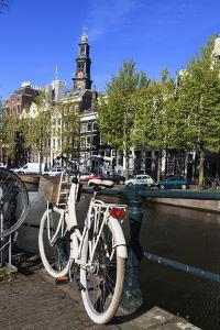 Bicycles by the Canal, Amsterdam, Netherlands, Europe by Amanda Hall