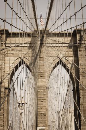 Brooklyn Bridge, New York, United States of America, North America by Amanda Hall